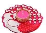 Mayur floating candle holder