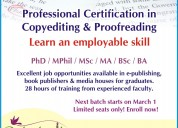 Copy editing and proof reading course