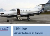 Air ambulance in ranchi is highly equipped with th