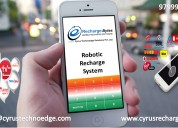Robotic recharge system for mobile & dth @affordab