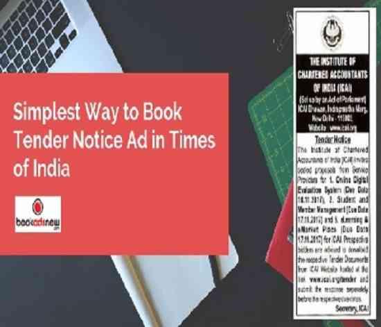 Book Your Tender Advertisement in Newspaper Online