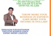 Export import business workshop – 16 feb 2019