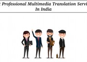 Get professional multimedia translation services