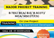 Get the best major project training indore
