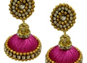 Buy pink earrings designs at best price
