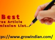 Best article and blog writing platform: grow india
