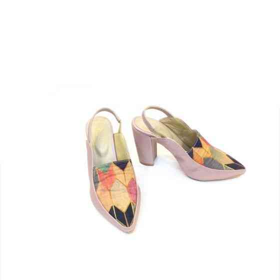 Buy Georgia Pink Patterned Heels For Women at PAIO