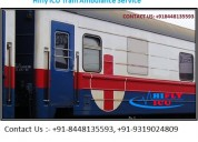 Affordable price icu train ambulance in jamshedpur