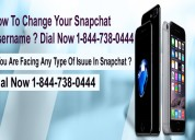 How to change your snapchat username?18447380444
