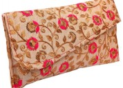 Ladies clutch floral online at nandi gifts gallery