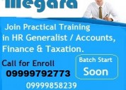 Providing a/c's & taxation training with real time