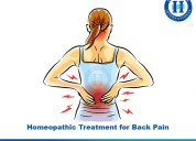 Back pain can be solved with homeopathy now in bel