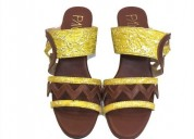 Buy bailey yellow and brown wedge heels for women