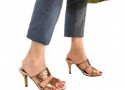 Buy fling gold glitter mule heels for women