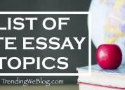 Pte essay topics
