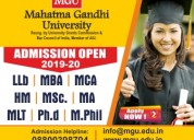 Mgu university regular admissions 2019