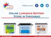 Online luminous battery shop in ballabgarh
