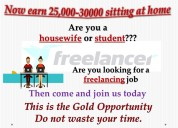 Get extra income by home based job
