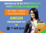Admission cum scholarship test on 07th april