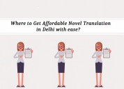 Where to get affordable novel translation in delhi