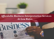 Affordable business interpretation services at low