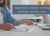 Expertise content writing package nearby you.