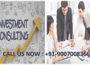Investment with best consultants in india