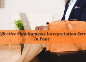 Get effective simultaneous interpretation services