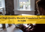 Find high quality marathi translation services