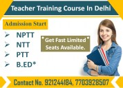 Nptt teacher training course in delhi