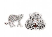 Cheetah Lips Custom Stickers