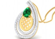 Buy latest designer diamond pendant online