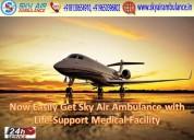 Use splendid sky air ambulance in patna and delhi