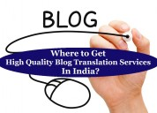 Where to get high quality blog translation service