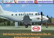 Receive 24 hours emergency air ambulance in ranchi