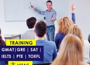 Gre, gmat, ielts, toefl, pte, and sat training