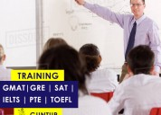 Gre, gmat, ielts, toefl, pte exam and sat coaching