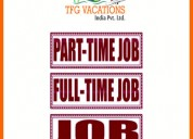 Ourism company hiring candidates for part time job