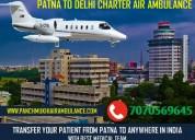 Hire icu equipped air ambulance service in patna