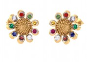 Navratna earrings designs with price
