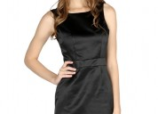 Buy black satin bodycon mini dress at london rag