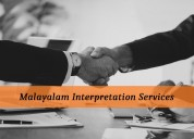 Find accurate malayalam interpretation services