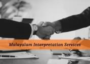Find accurate malayalam interpretation services