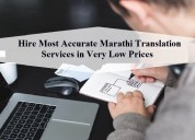 Hire most accurate marathi translation services