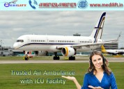 Get icu charter air ambulance service in ranchi