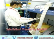 Medical facility train ambulance in delhi