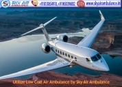 Take charter air ambulance service in patna