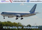 Get prominent air ambulance service in allahabad