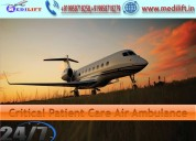 Hire comfy air ambulance service in bangalore
