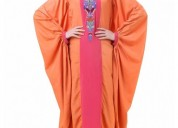 Buy orange bat wing style crepe abaya